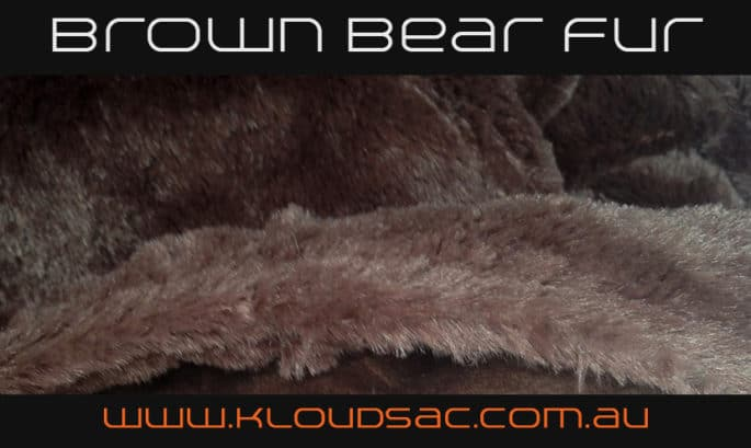 buy brown bear fur bean bag covers
