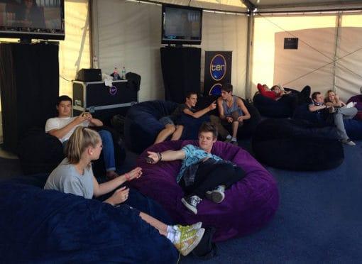 channel 10 bean bags st-kilda festival