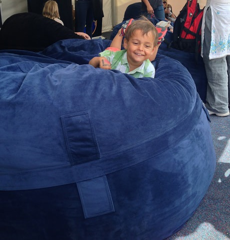 channel 10 st-kilda festival cute child bean bag