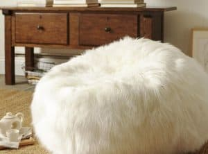 Straight Fur Bean Bag
