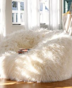 large faux fur bean bag