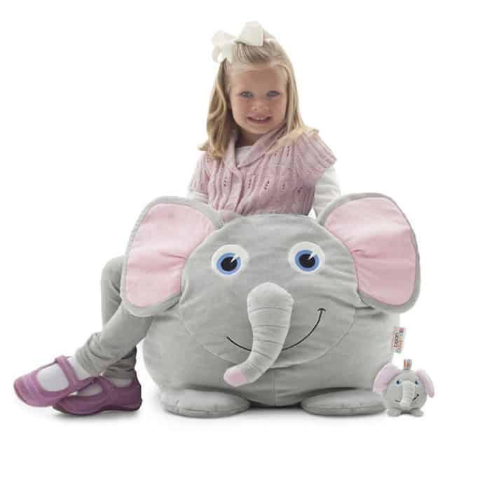 elle elephant kids bean bag