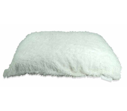 Flat Gamer in Shaggy White Fur