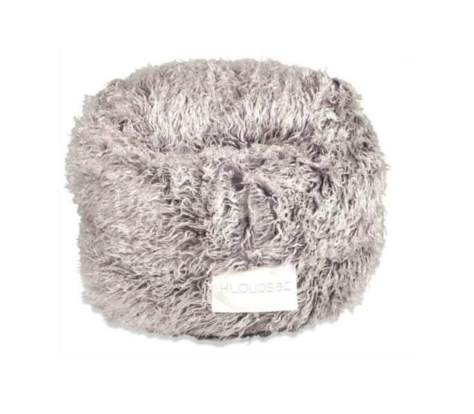 brown faux fur kloudsac