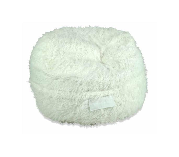 white shaggy fur kloudsac