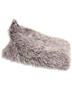 Brown Fur Triangle Bean Bag