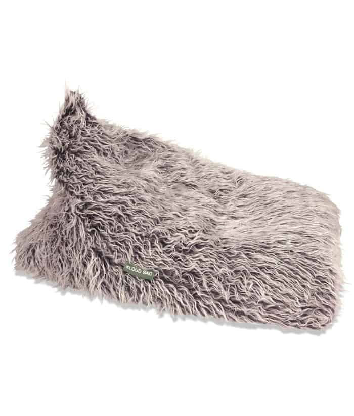 Brown Fur Triangle Bean Bag