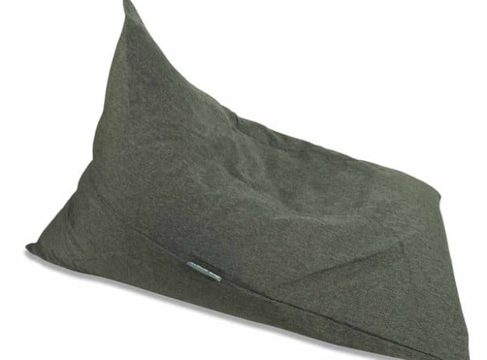 Charcoal Linen Triangle