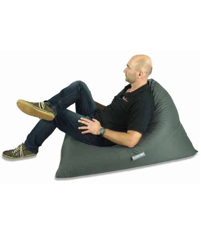 Grey Triangle Bean Bag