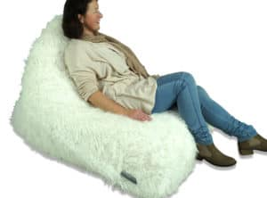 Fur Triangle Bean Bag