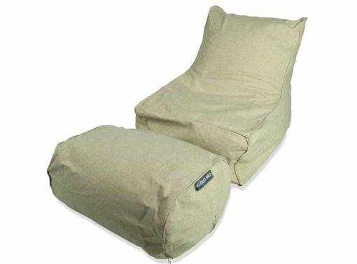 Chaise bean bag in beige