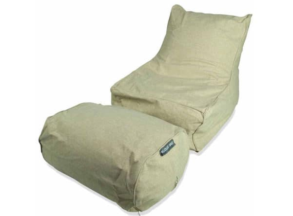 Chaise bean bag in beige