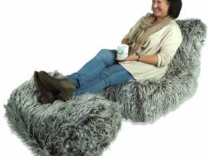 Brown Faux Fur Chaise Lounger