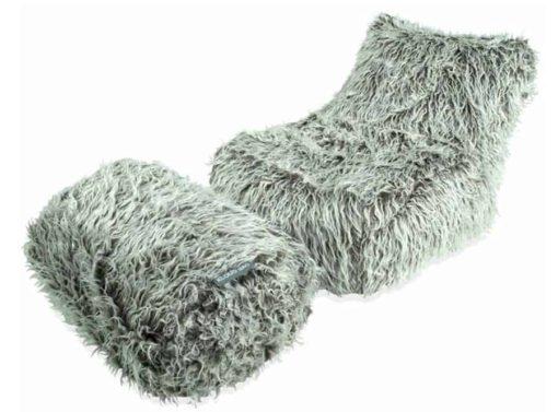 Brown fur chaise