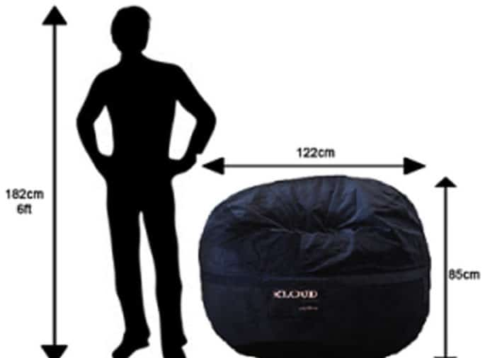 120cm Bean Bag Dimensions