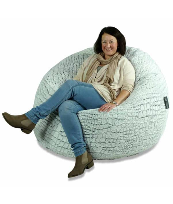 Large Stone Fur Bean Bag