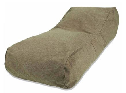 Lounger in brown