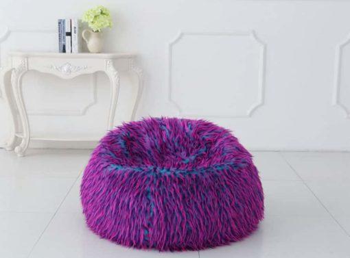 Purple and pink bean bag