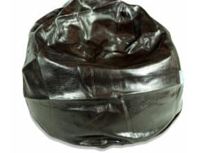 Regular Black Leather Bean Bag