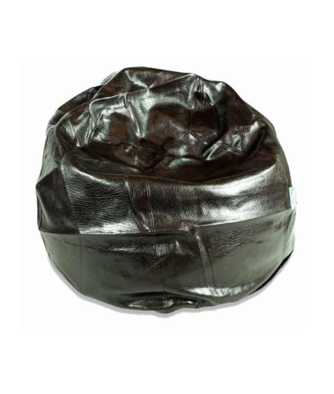 Regular Black Leather Bean Bag