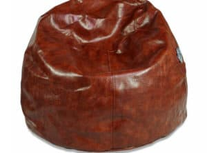 Regular Brown Leather Bean Bag