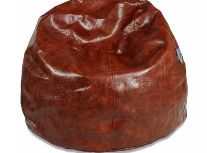 Regular Brown Leather Bean Bag