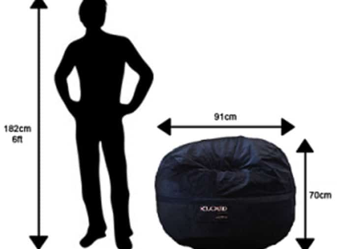 90cm Bean Bag Dimensions