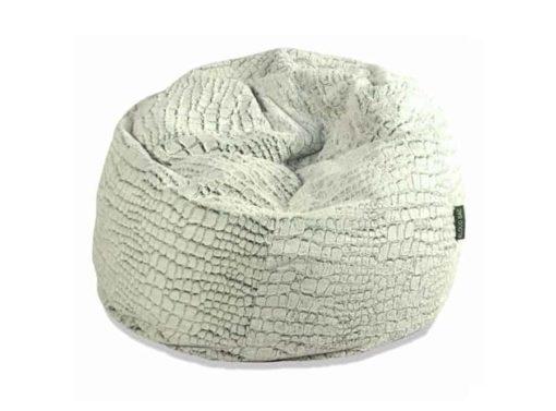 Regular stone fur bean bag