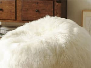 Regular Straight Fur Bean Bag