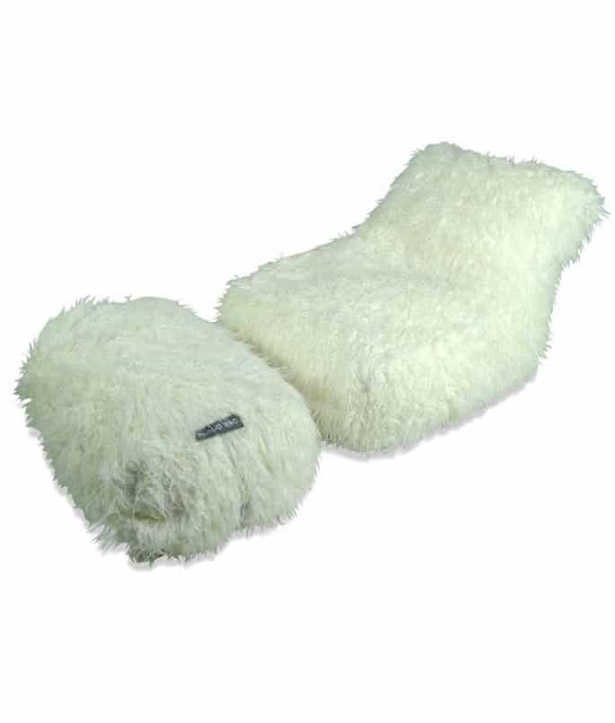 White Fur Chaise