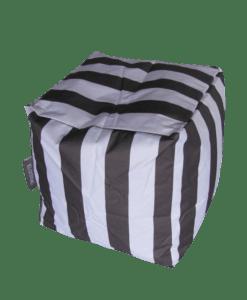 outdoor bean bag cube grey
