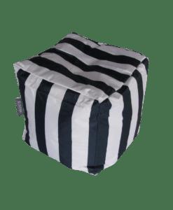 outdoor bean bag cube blue striped