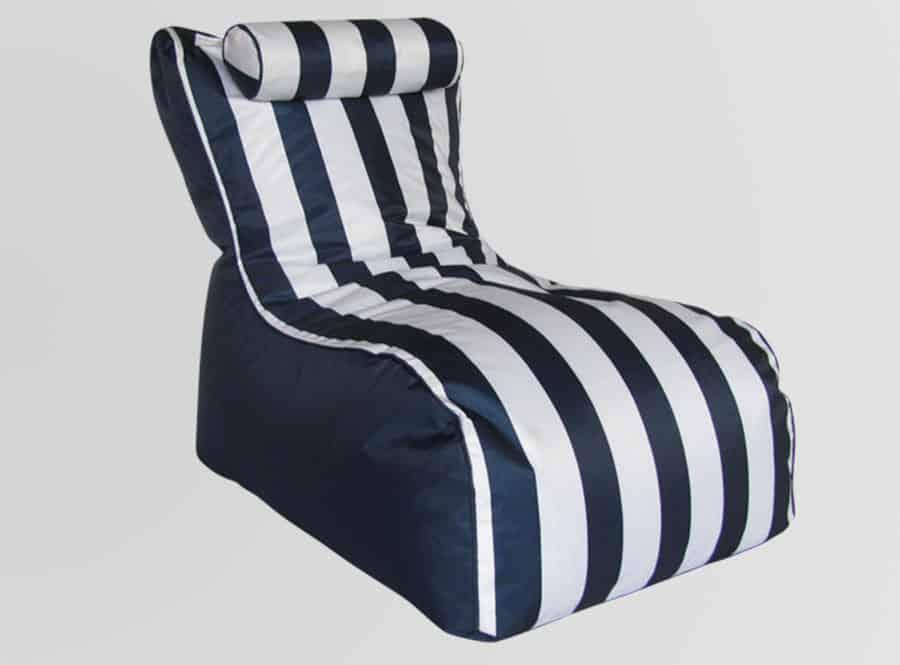 Blue striped chair lounge