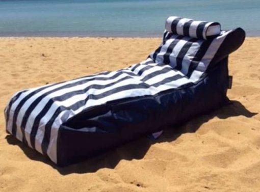 Blue striped lounge
