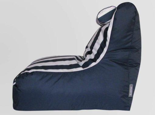 Blue striped bean bag