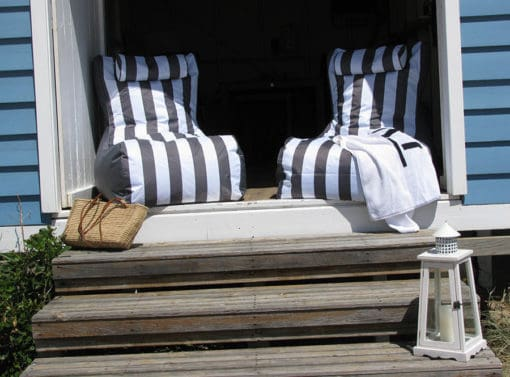 Grey outdoor bean bags