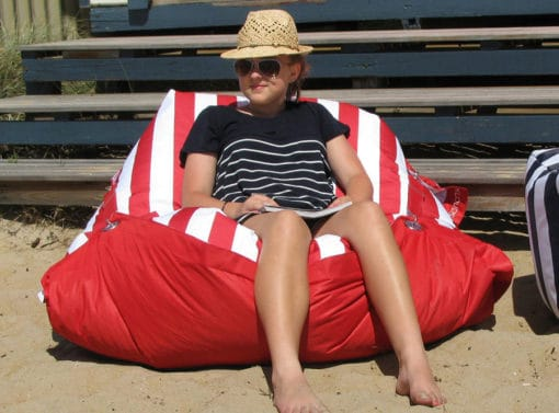 Red outdoor bb chair