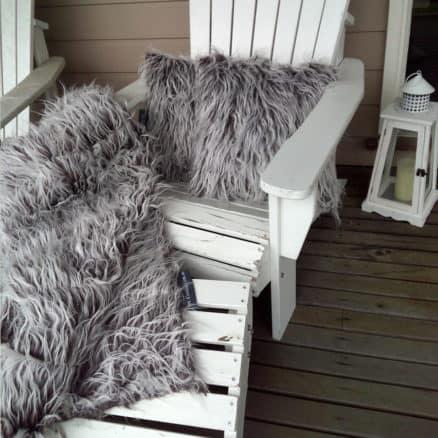 multiple cushions on deck chair