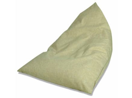 Beige triangle bean bag