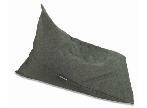 Charcoal linen bean bag