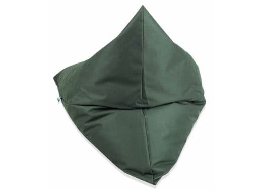 Triangle bean bag from behind