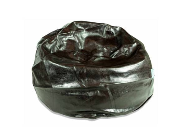 Leather Look Black Bean Bag Chair Extra Large