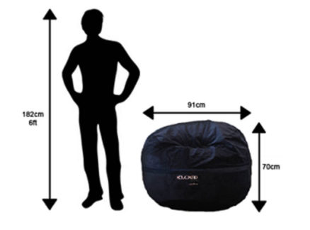 Regular bean bag size chart