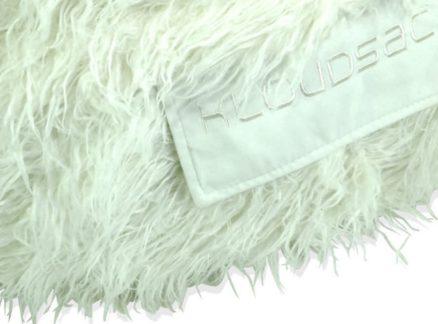 Shaggy white fur