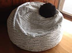 Stone Fur Bean Bags