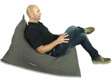 Charcoal triangle bean bag