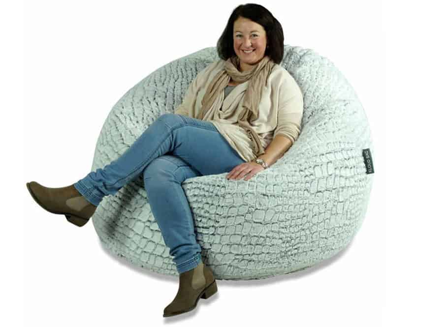 11020df0f24d Stone Fur Bean Bag (Extra Large) - Kloudsac