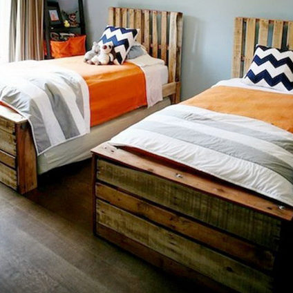 pallet single beds twin